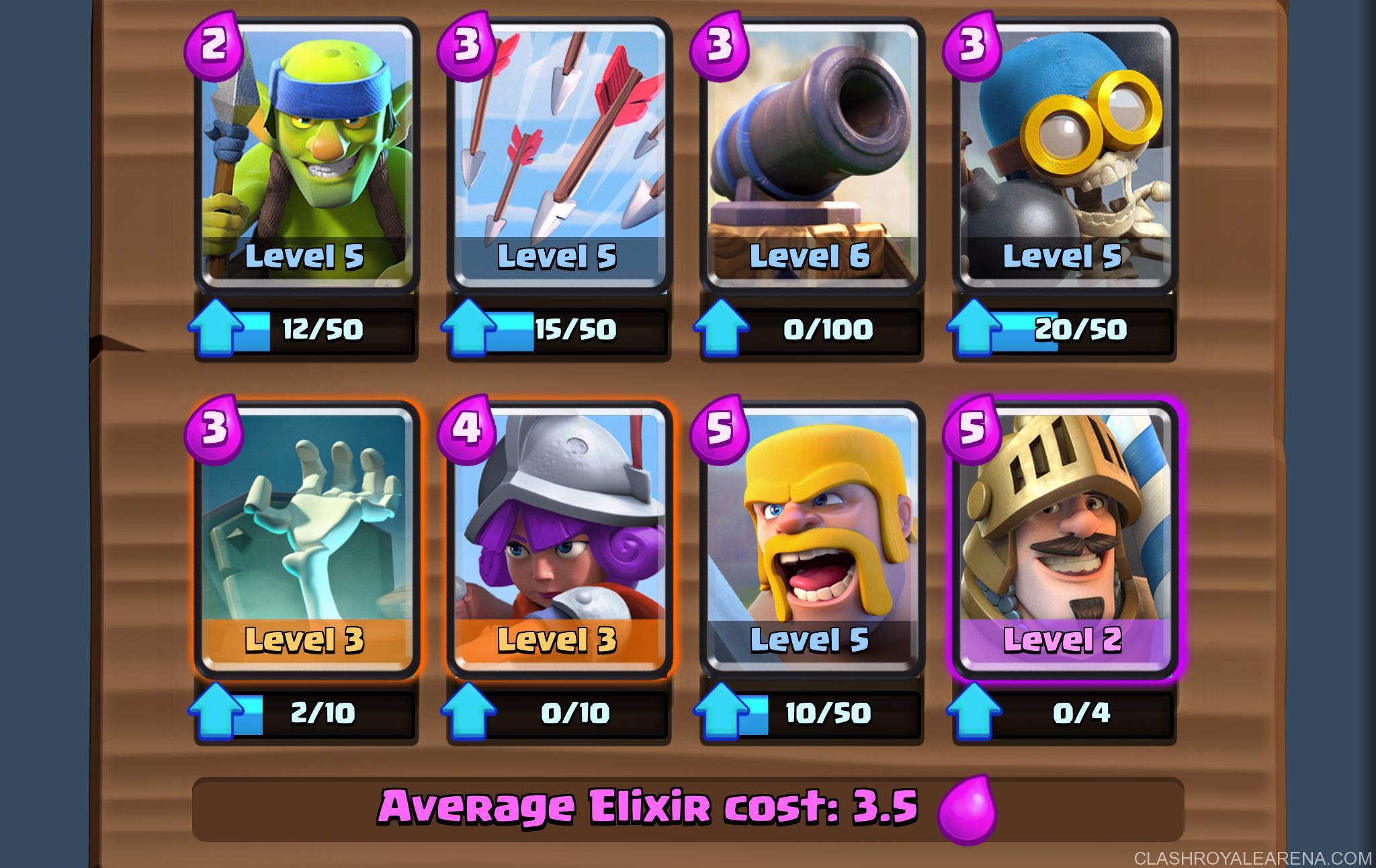 clash royale arena 5 deck guide