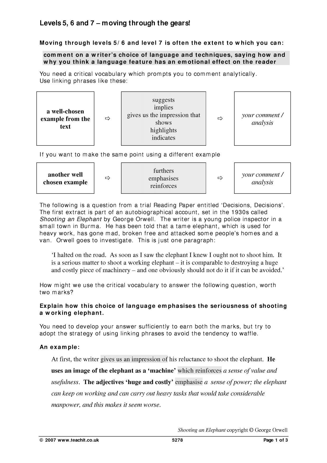 pee language analysis vce guide