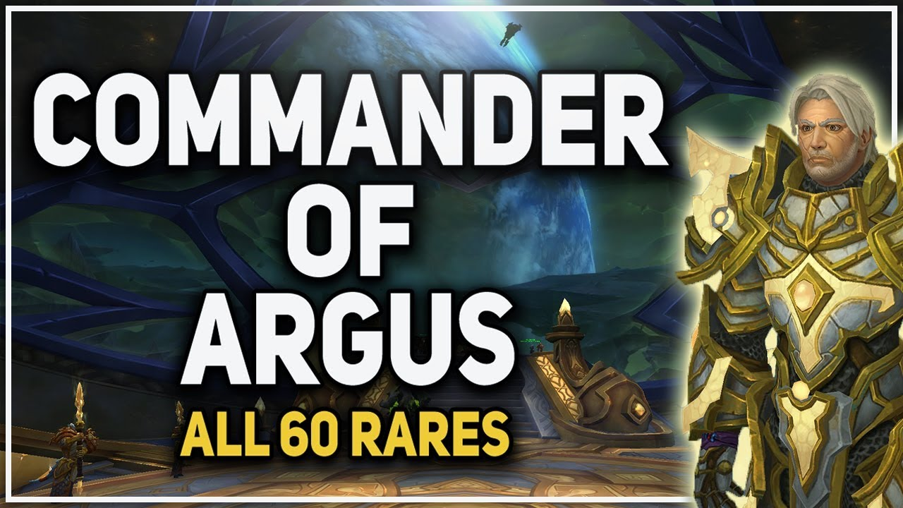 commander of argus achievement complete guide all 60 rares