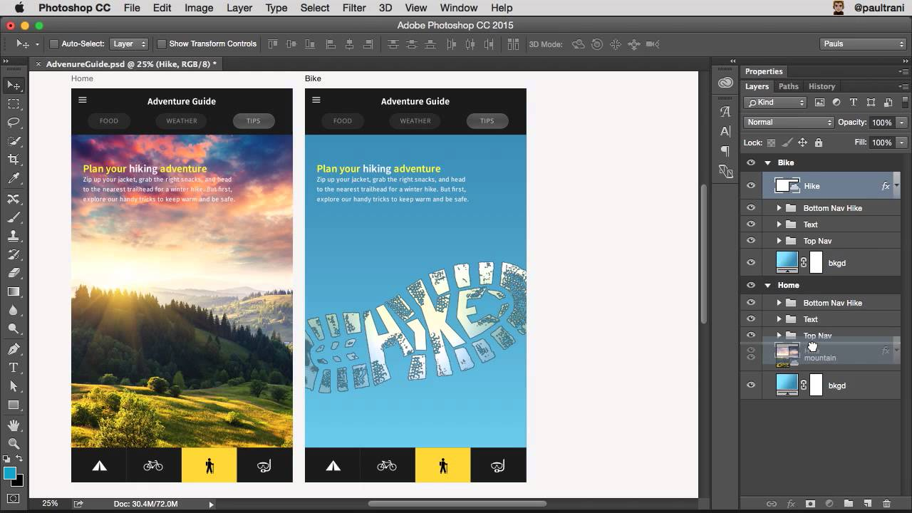 how to create web design style guide photoshop