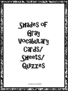 shades of gray carolyn reeder study guide