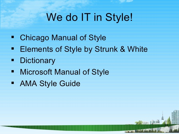 a successful style guide manual