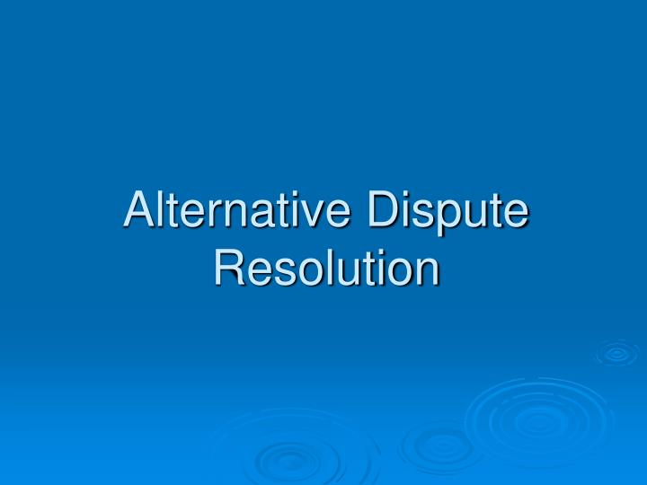 country guides on alternative dispute resolution