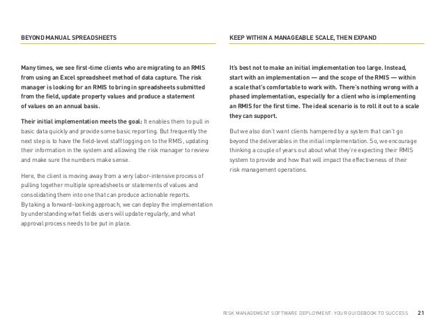 guide to implementing enterprise risk management