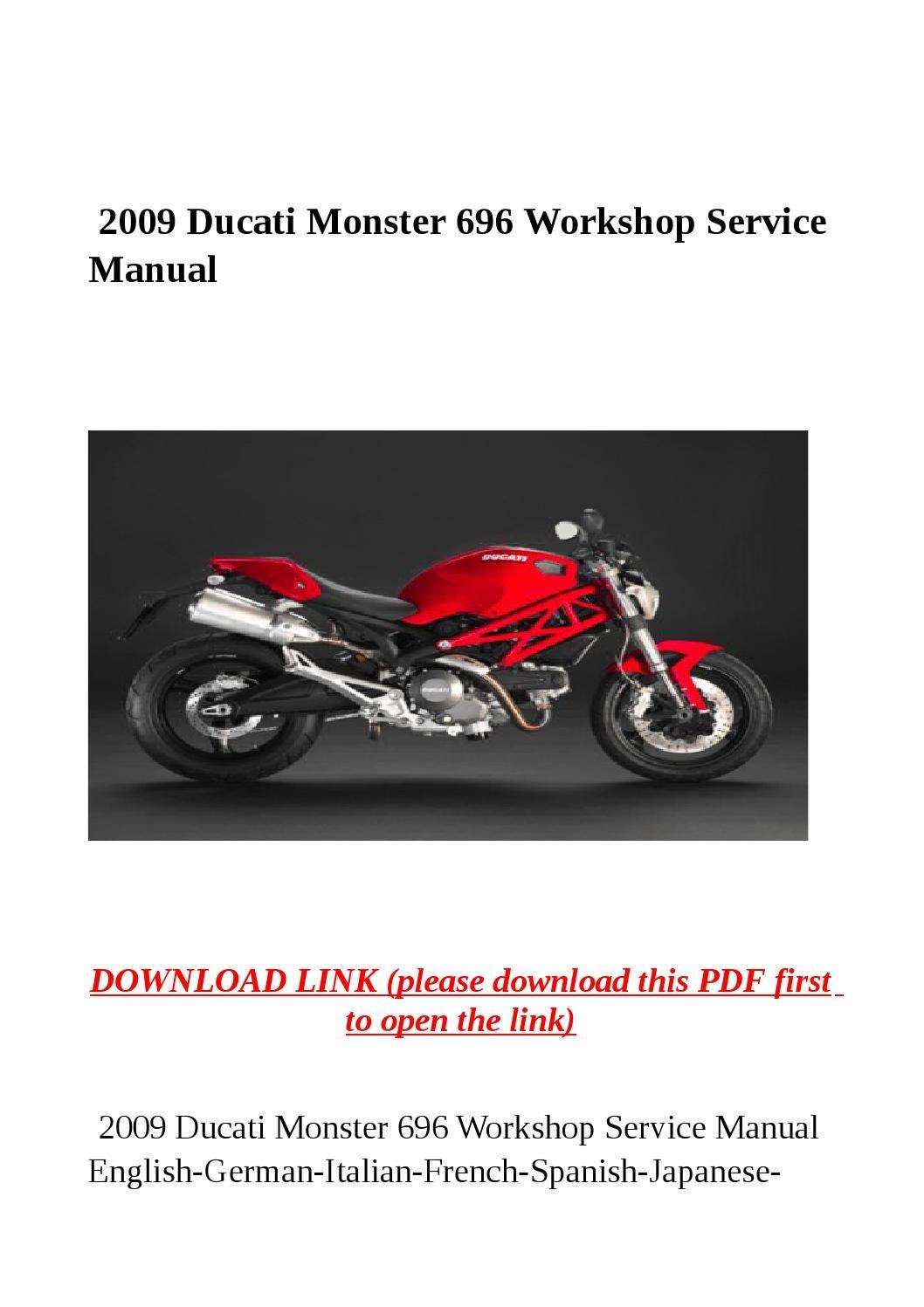 ducati monster 696 maintenance guide