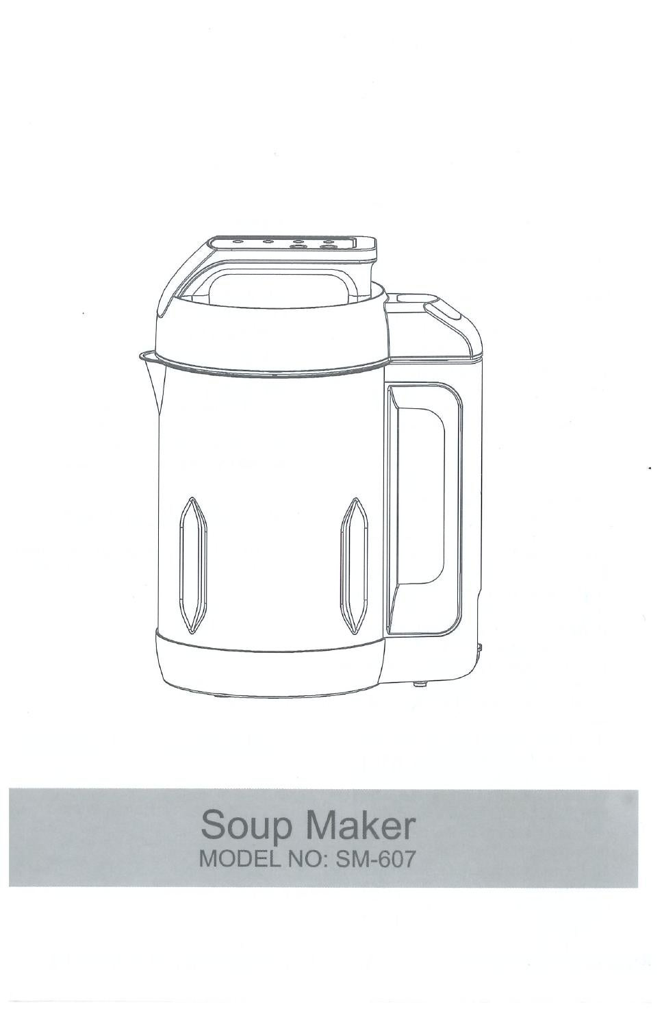 soup maker exception user guide