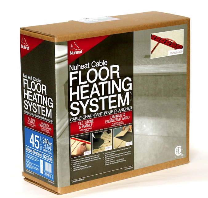 cable guide for radiant floor heating
