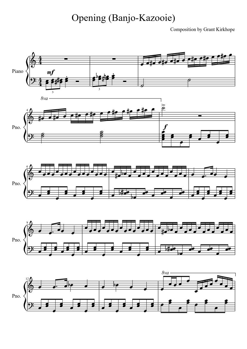 banjo kazooie music notes guide
