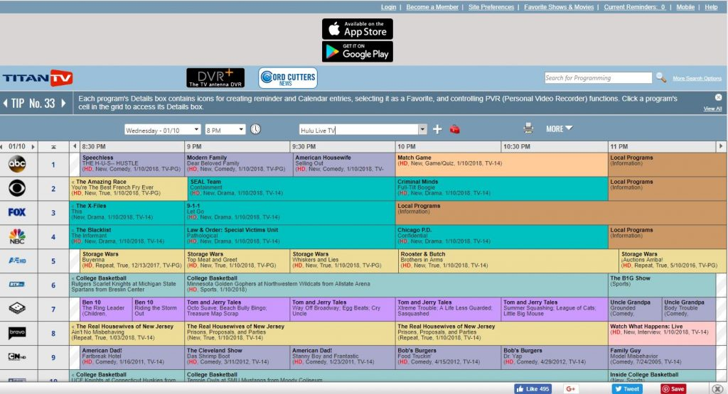 basic cable channels tv guide