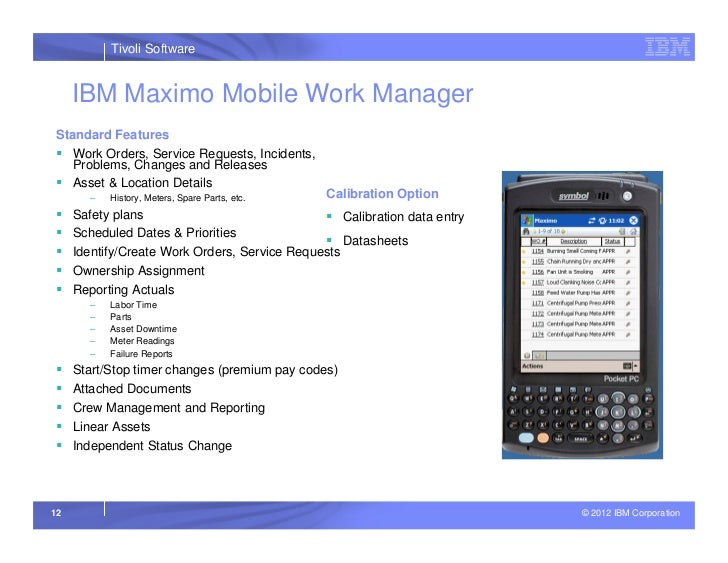 ibm maximo mobile work manager user guide