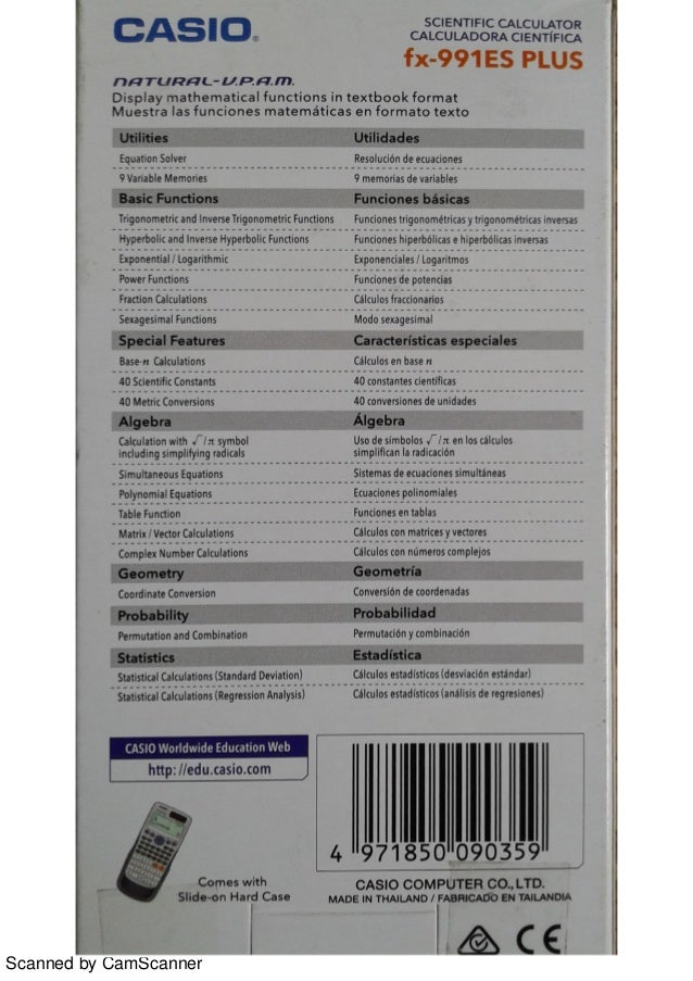 casio fx-100au plus user guide