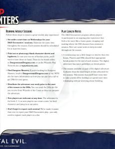 d&d 5e adventurers league season 1 guide