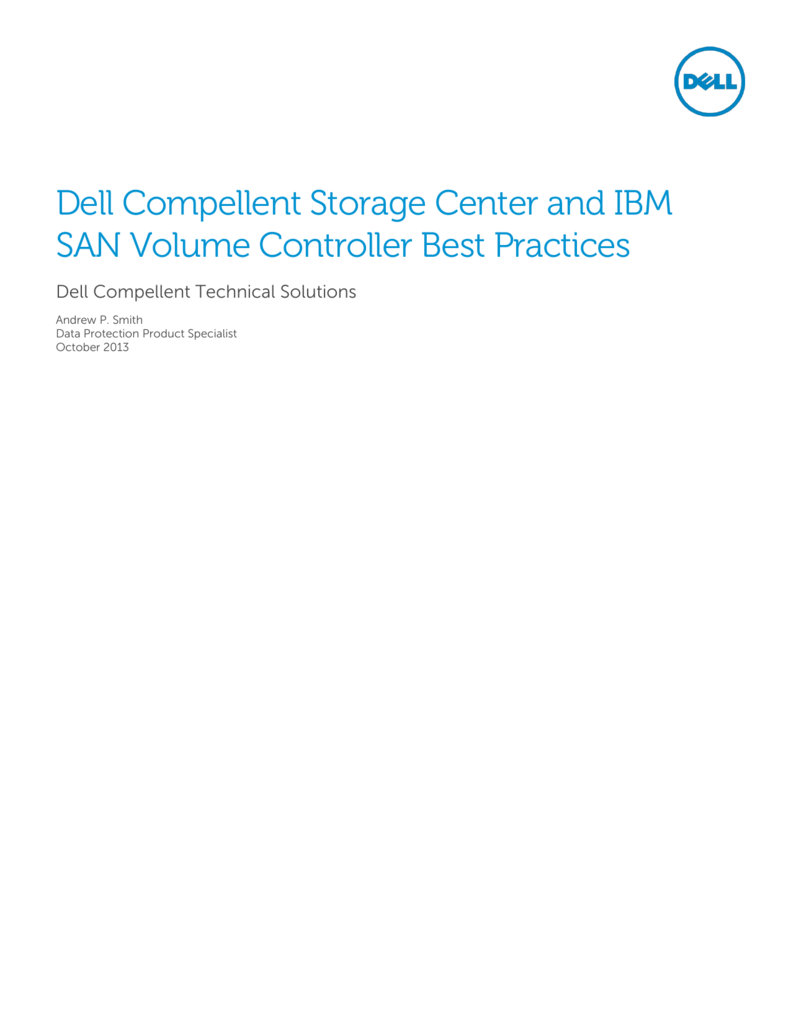 dell compellent live volume best practices guide