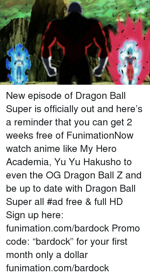 dragon ball super funimation episode guide