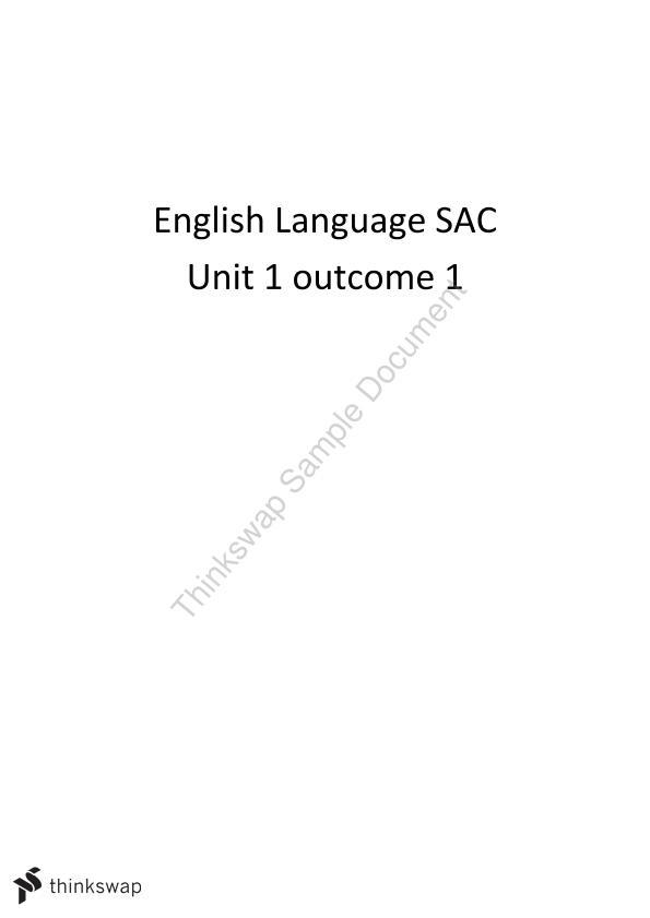 vce study guides english language