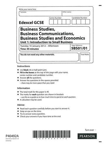 business studies level 2 study guide