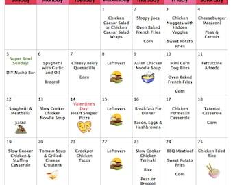fodmap weekly menu guide february 2017