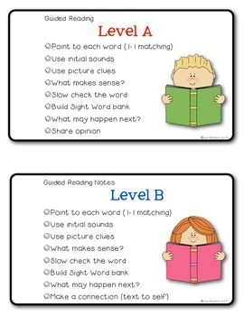 guided reading strategies comprhension tasks