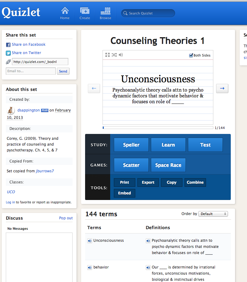mental health study guide quizlet