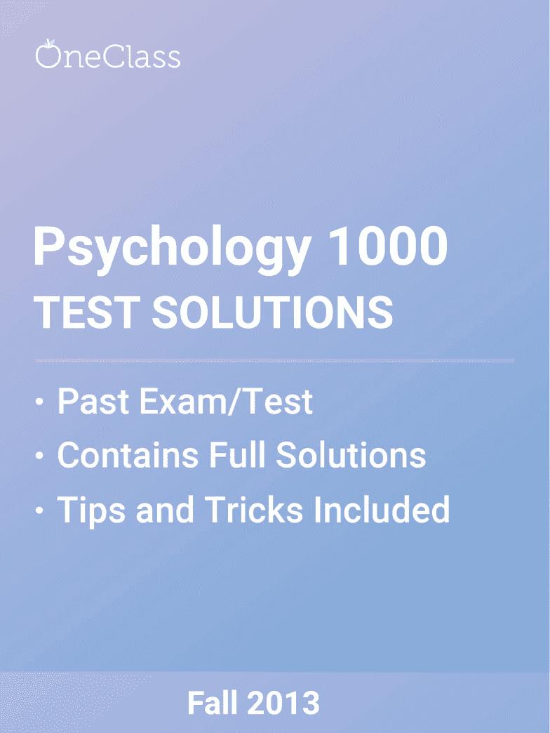 psychology study guide sasta 2018