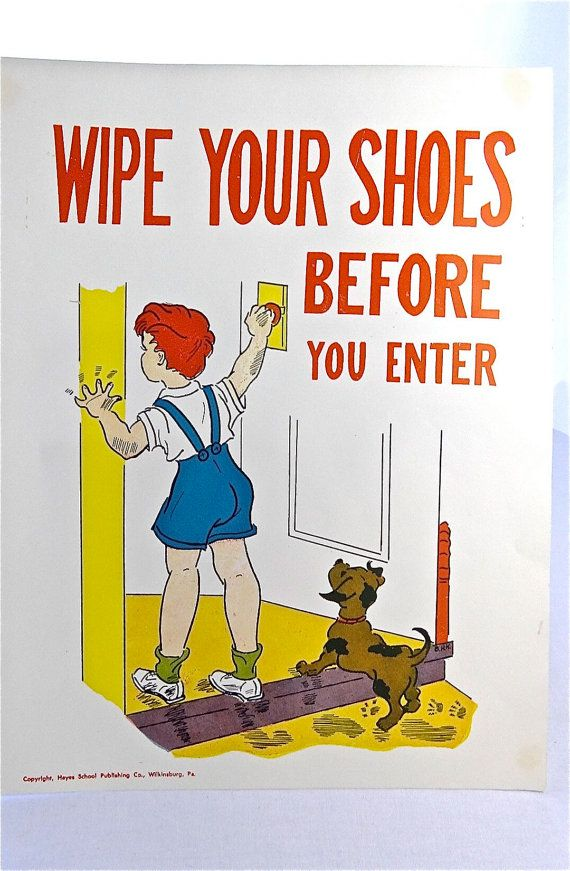 wipe your shoes before entering how to guide